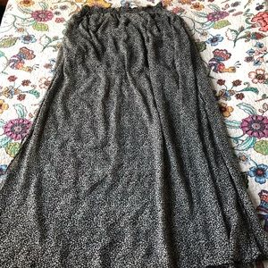 Sheer Overlay Snow Leopard Skirt Mango